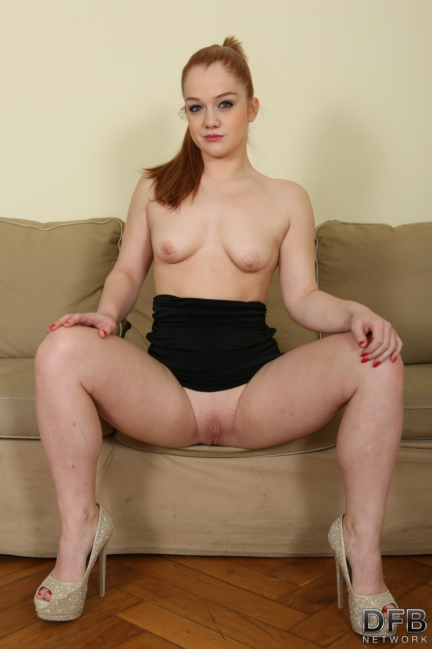 Petite redhead Alex Ginger gets butt fucked by a BBC in reverse-cowgirl style