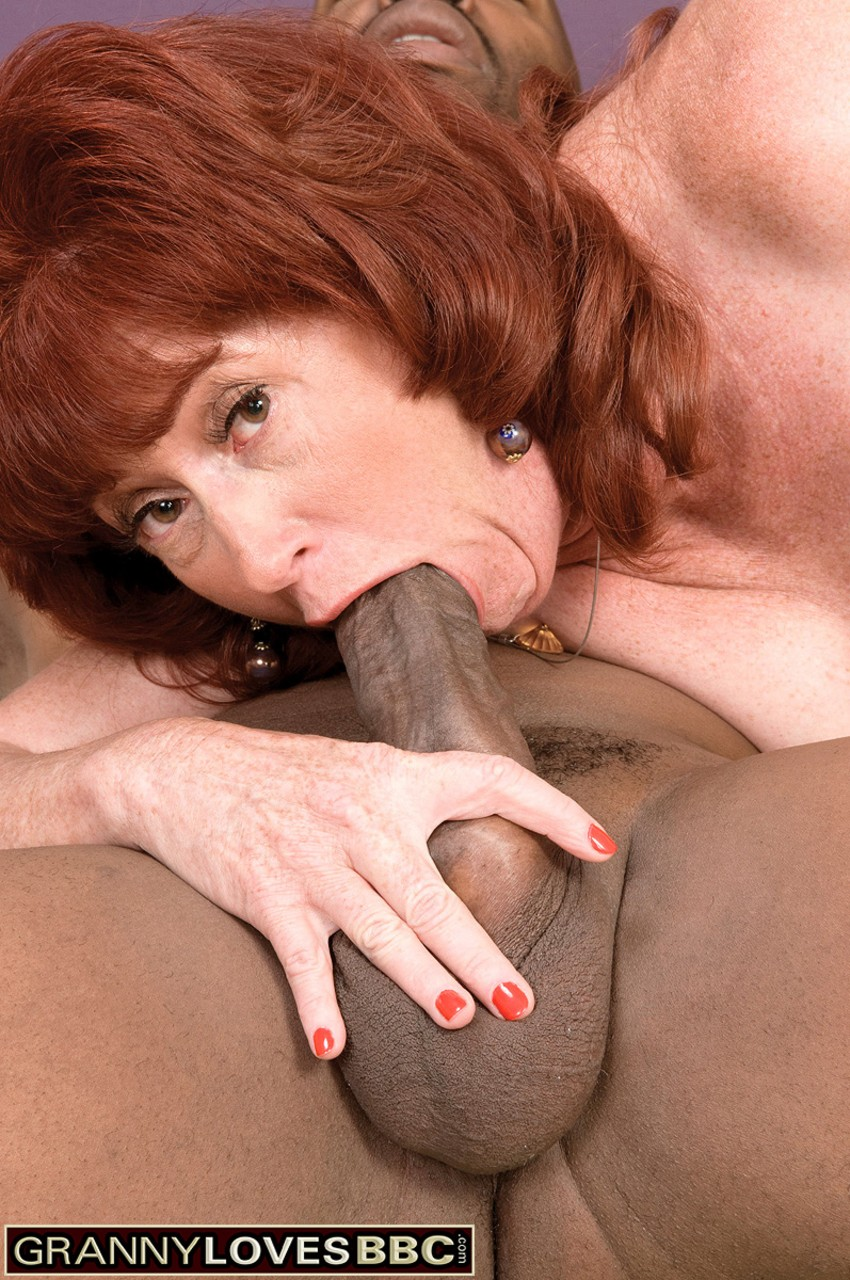 Older redhead Shirley Lily takes a black man