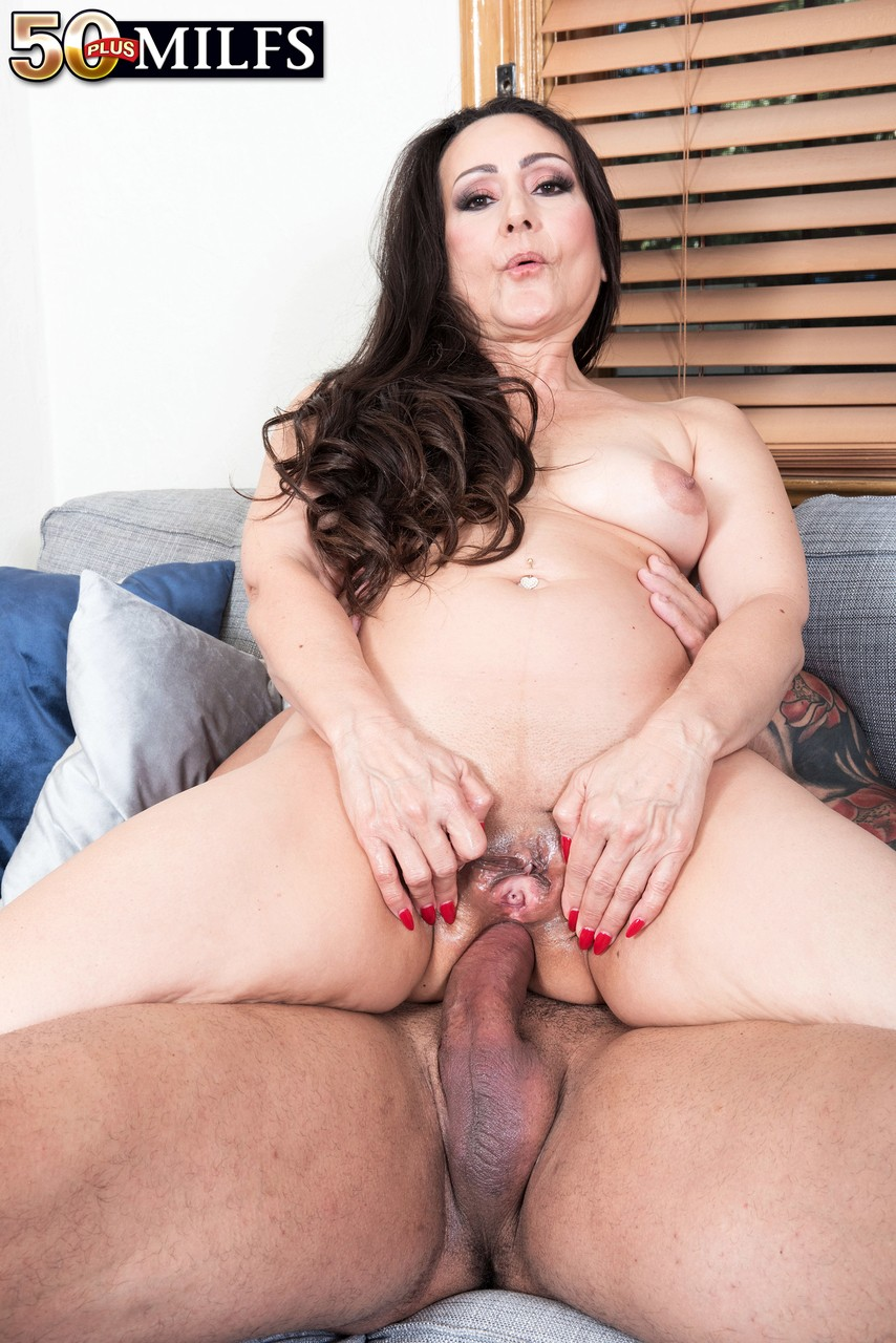 Allover50Milf thick older lady talia williams rides her younger lover's