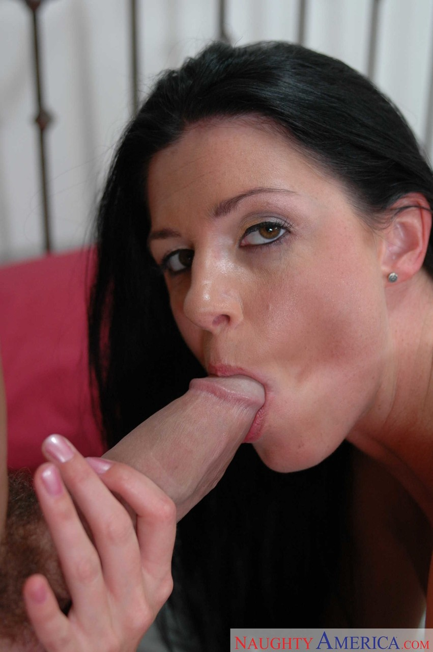White female India Summer plants her moist pussy on top of her mans cock