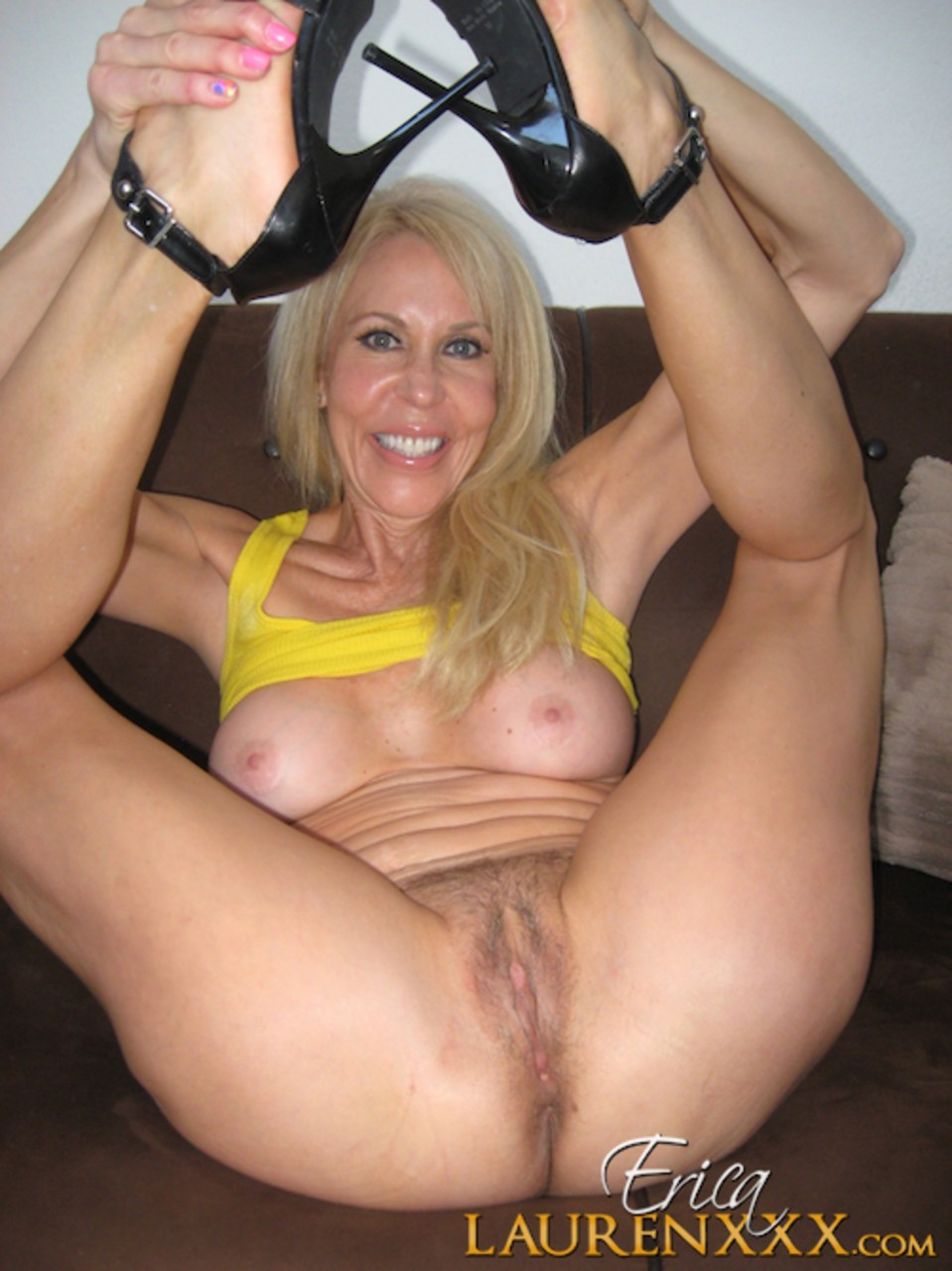 Docfuckcom Close Up Naked Images! Hot mature woman Erica Lauren stands naked after lingerie and thong removal!