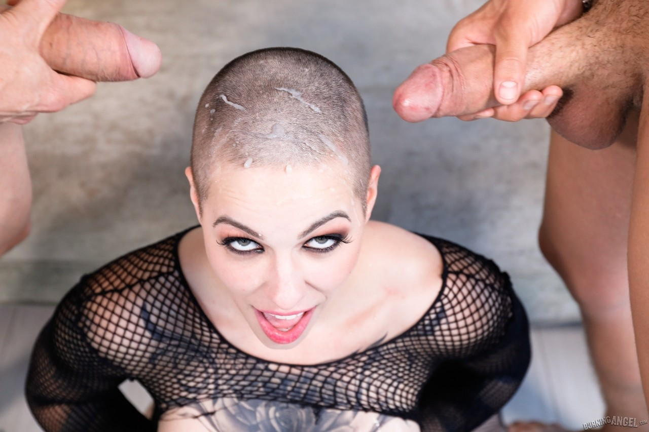 Shaved head katia gets sodomized