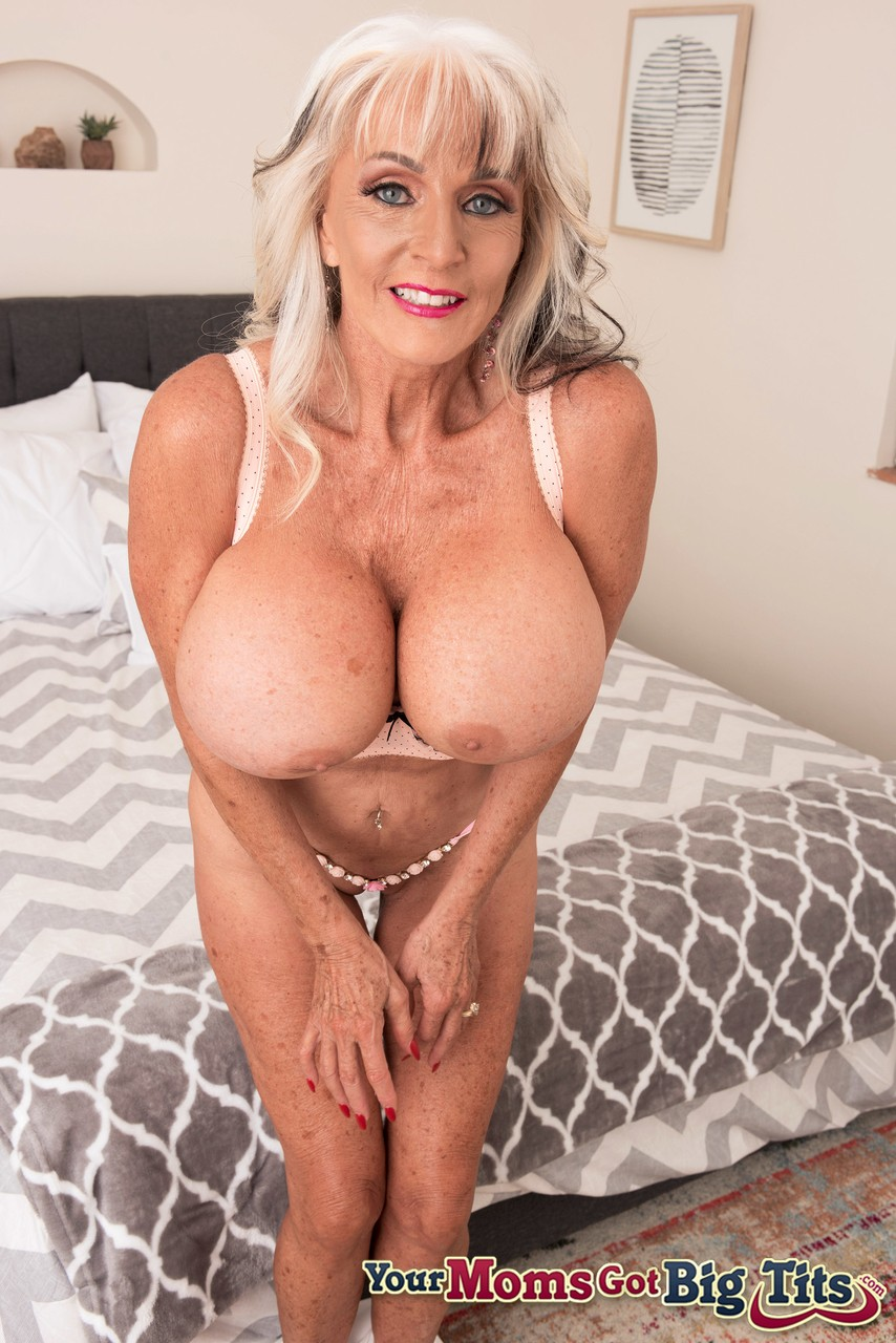 Petite granny Sally D'Angelo enjoys showing off her big ...