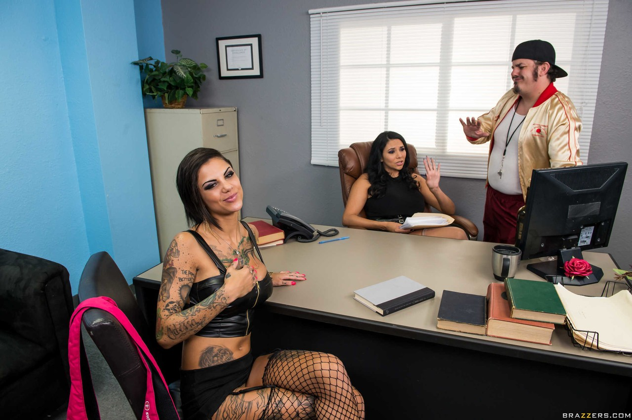 Furious office lesbian pairing with bombshells Lady Martinez & Bonnie Rotten porn photo #324692925 | Hot And Mean, Missy Martinez, Bonnie Rotten, Lesbian, Pornstar, mobile porn