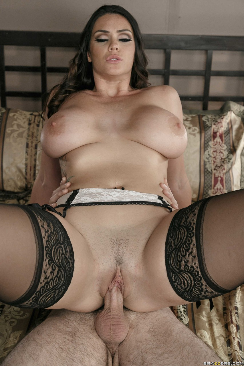 Alison Tyler gets fucked in hardcore fashion while wearing black stockings