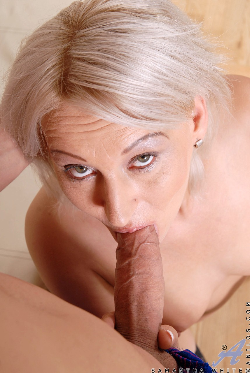 Horny housewife Samantha White conjures up a genie to have sex with