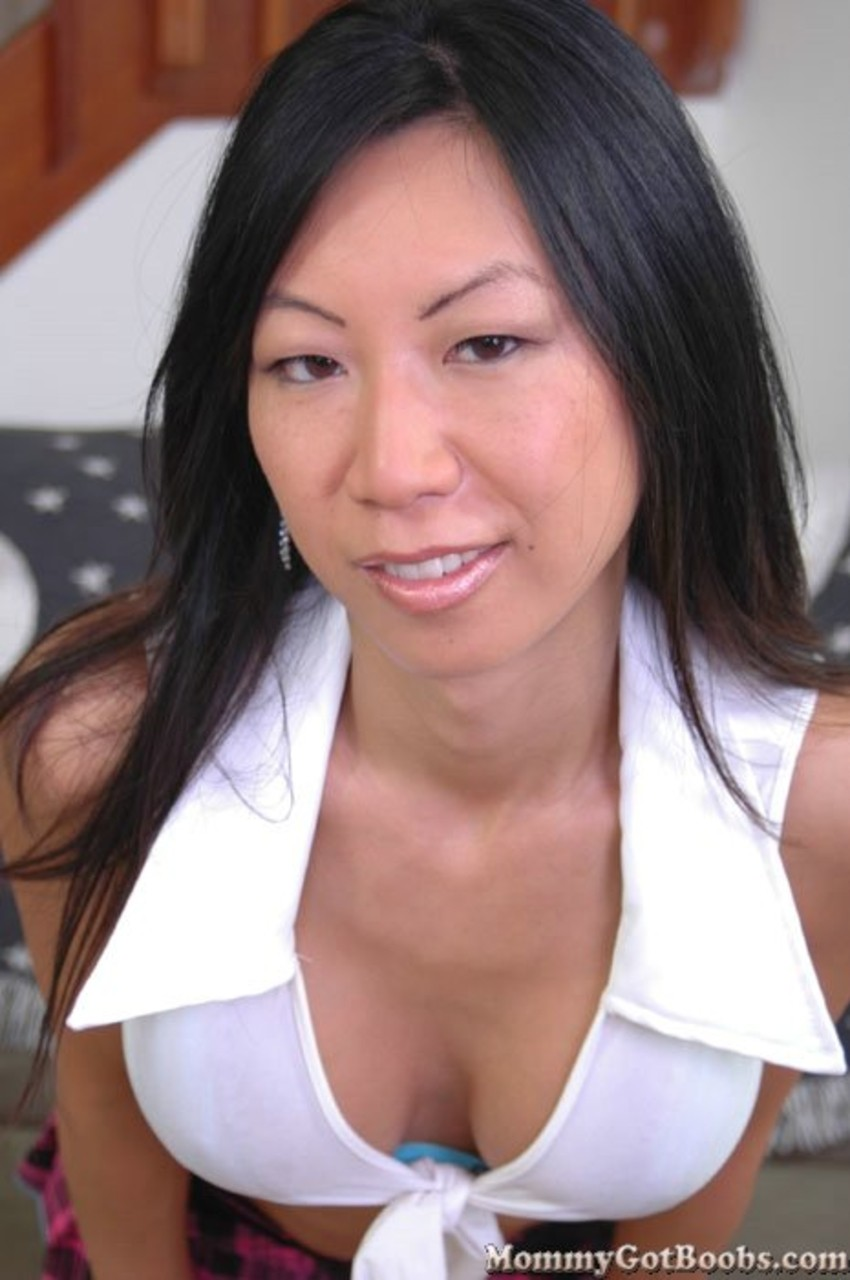 Asian american with huge tits