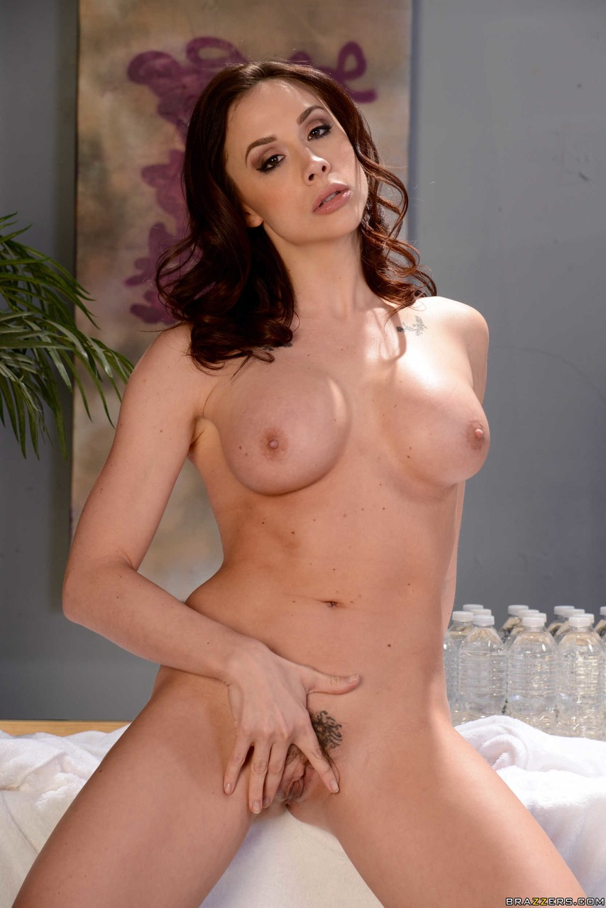 Exotic brunette Chanel Preston getting ready for a erotic massage