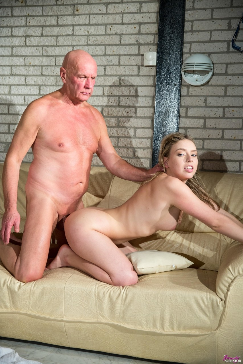 Teen Cutie Sucking And Riding Oldmans Cock