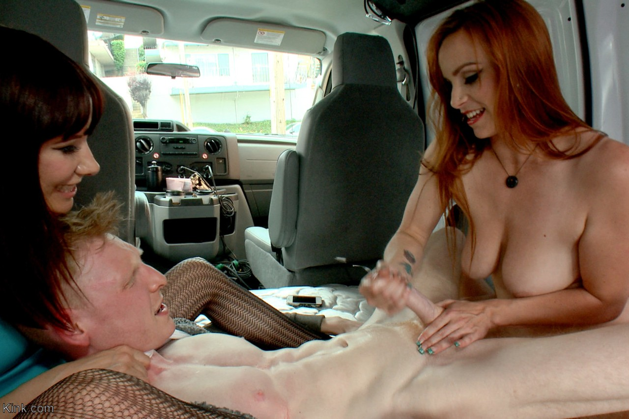 Bella Rossi  Maitresse Madeline get filmed while playing with a hard dick