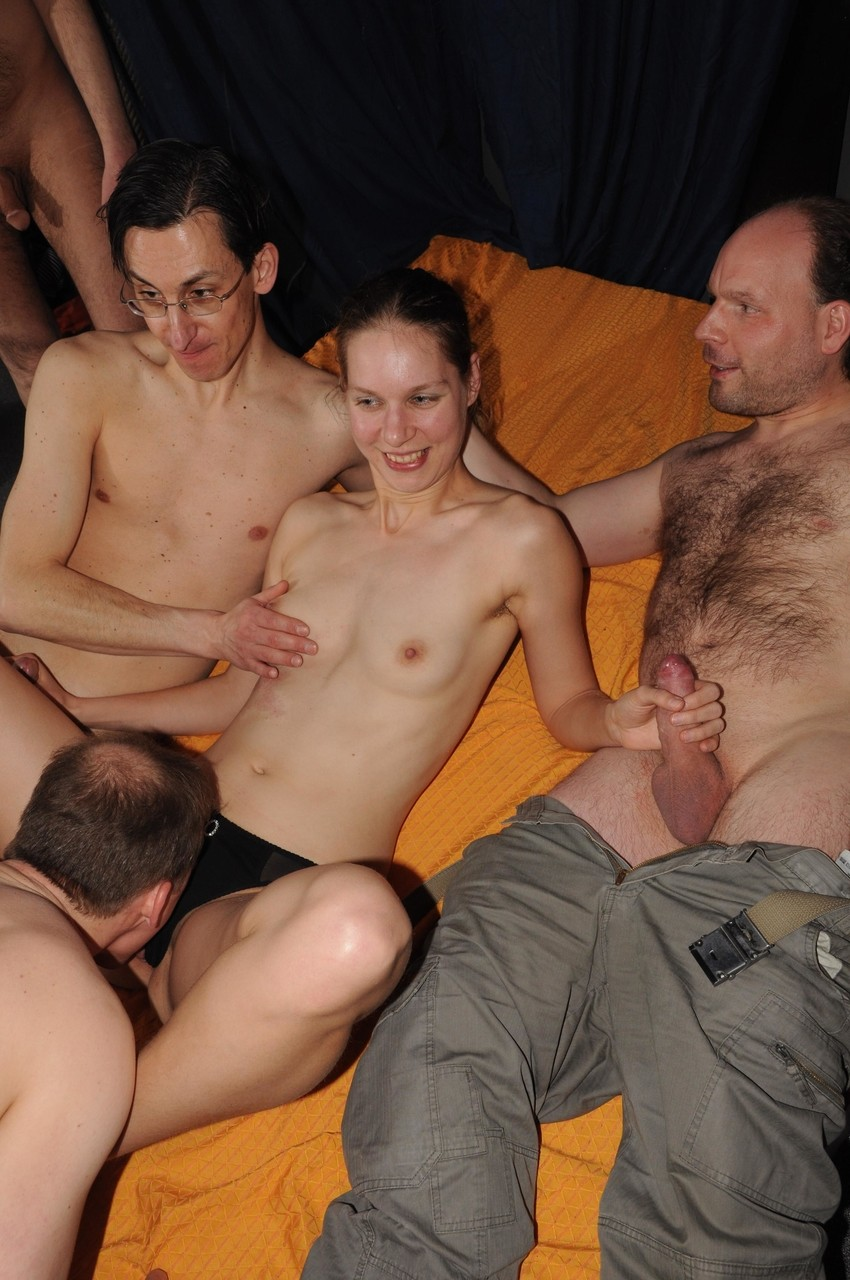 Barely legal gangbang