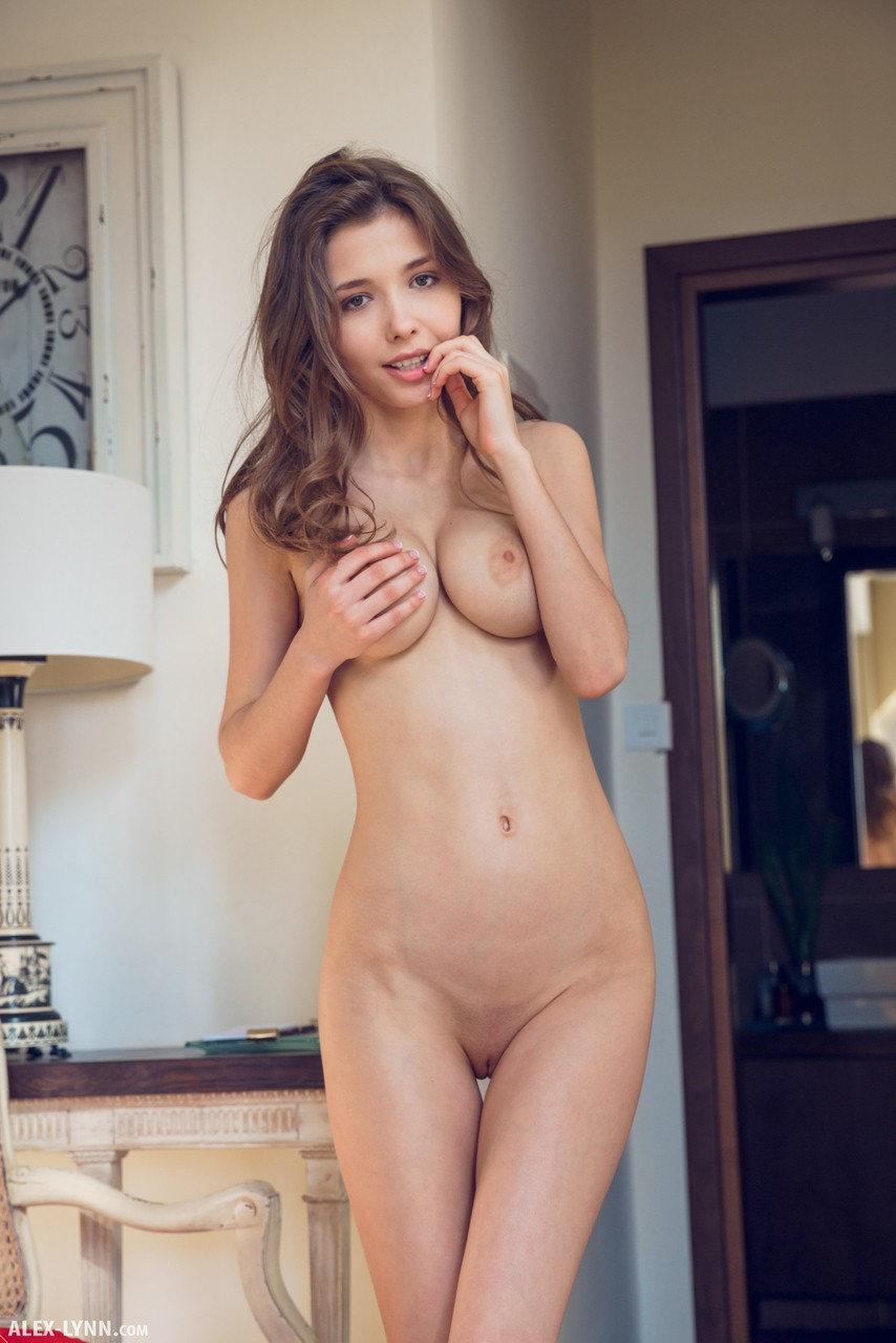 Erotic Teen Mila Azul Peels Off Her Sexy Red Lace Lingerie And Poses