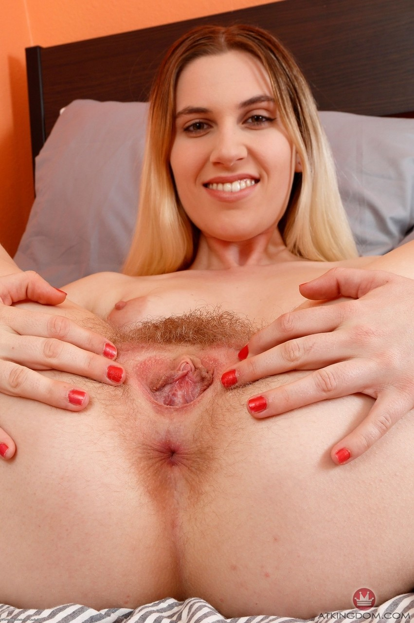 Hairy niki snow is pretty in pink