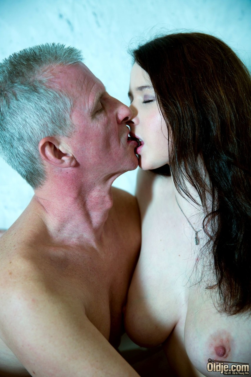 Drop pussy naked girl kissing old man