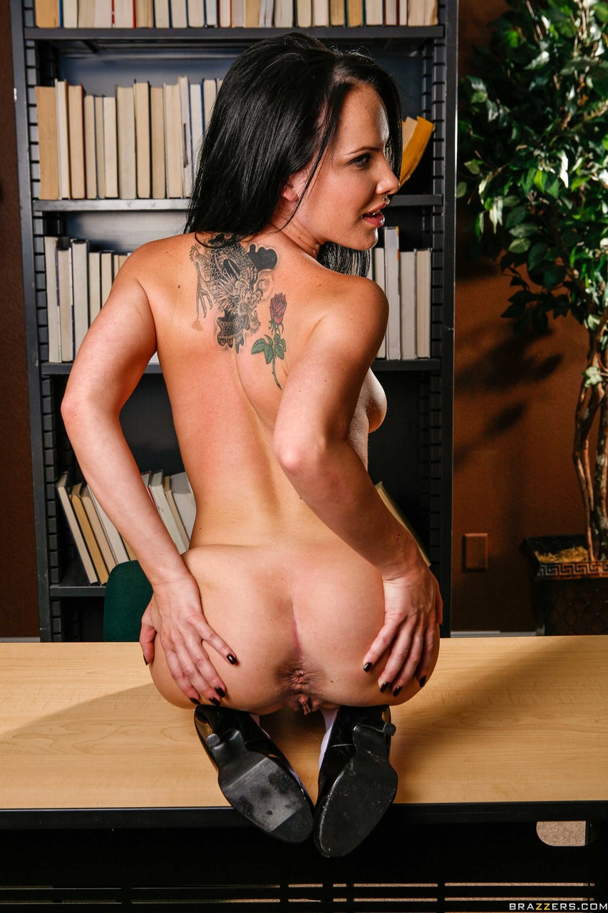 Brazen school girl Katie St Ives peels in the library for solo spreading