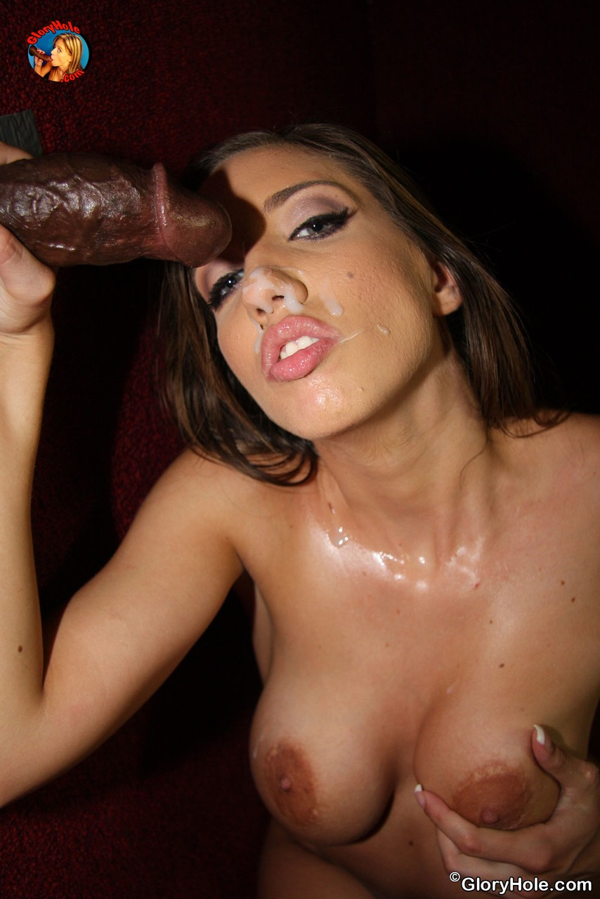 brunette gloryhole