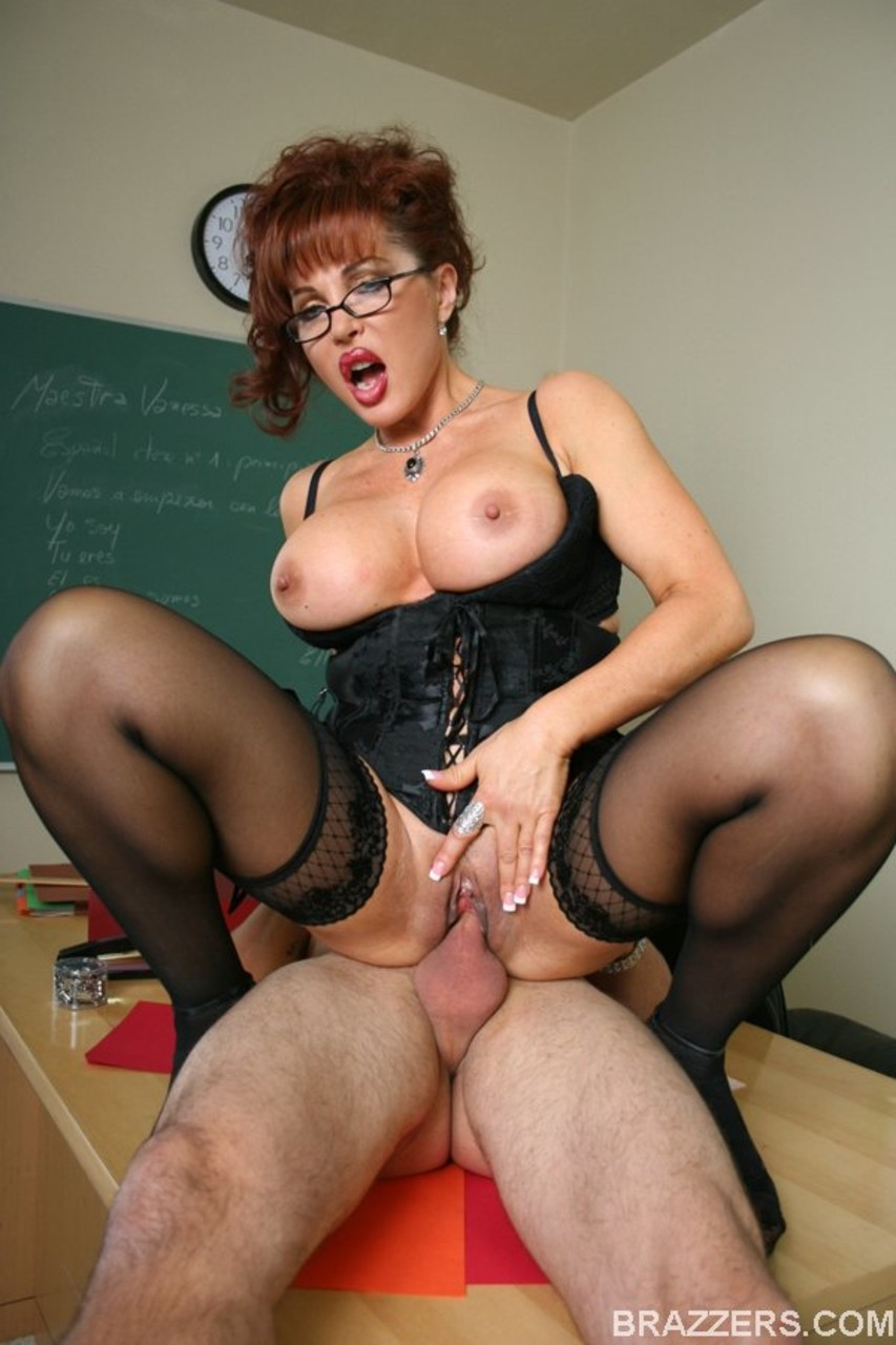 Milf seduces student
