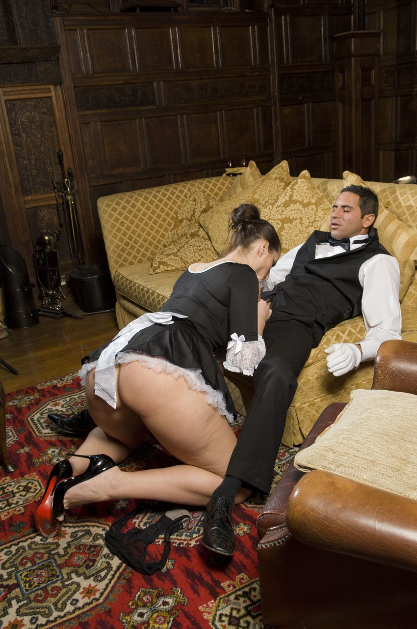 Bootylicious maid Paige Turnah has passionate sex with her colleague