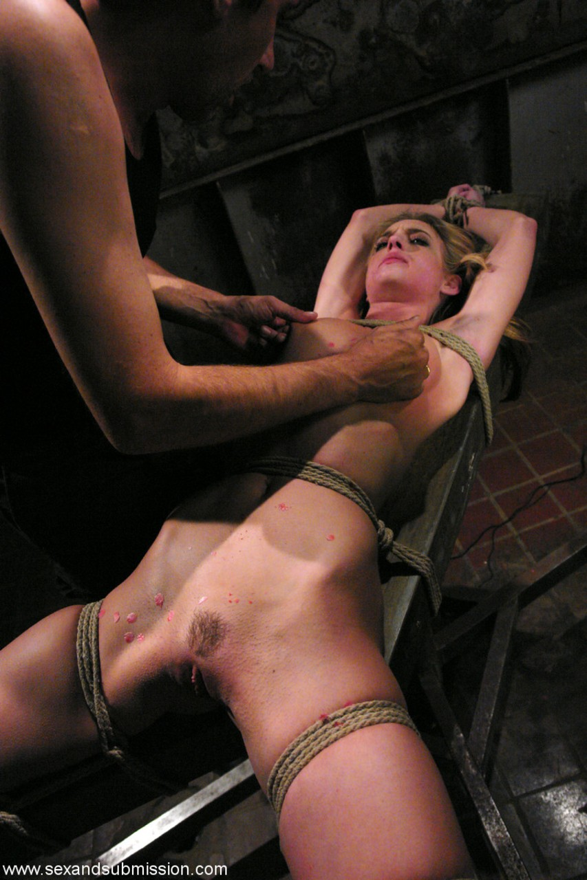 Helpless slaves restrained and fucked
