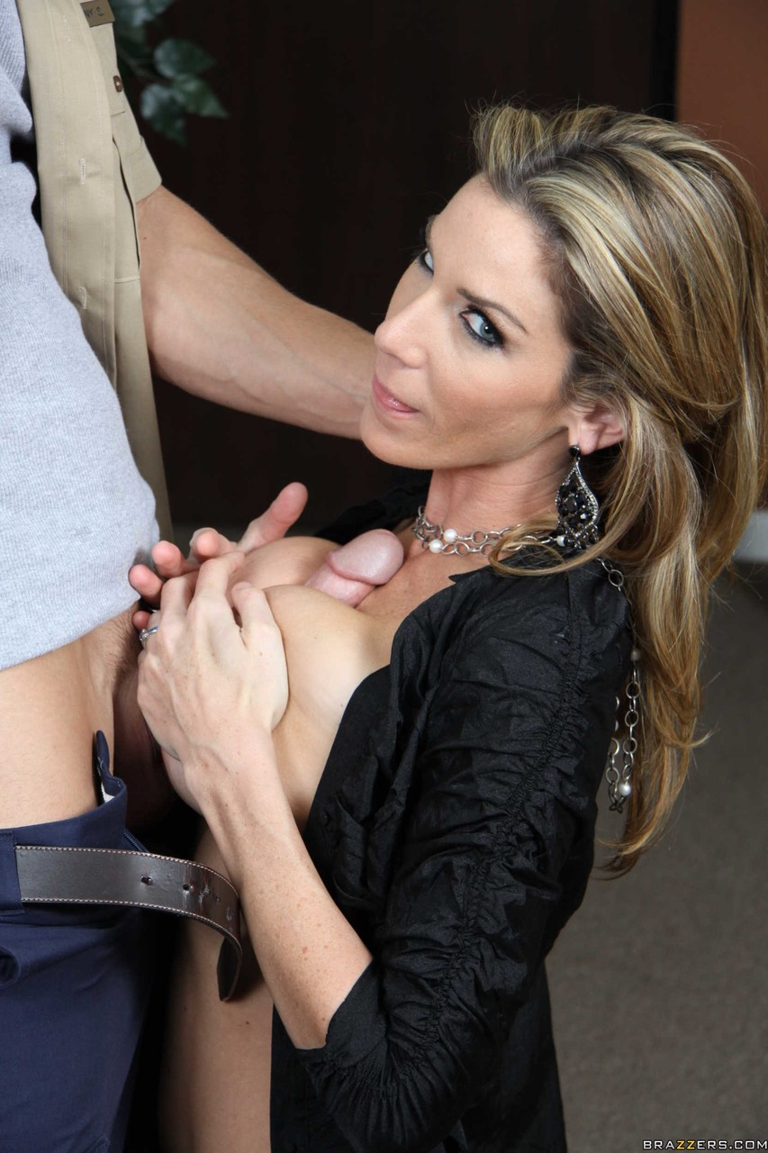 Wicked business woman Kayla Paige seduces repairman for hot office fuck