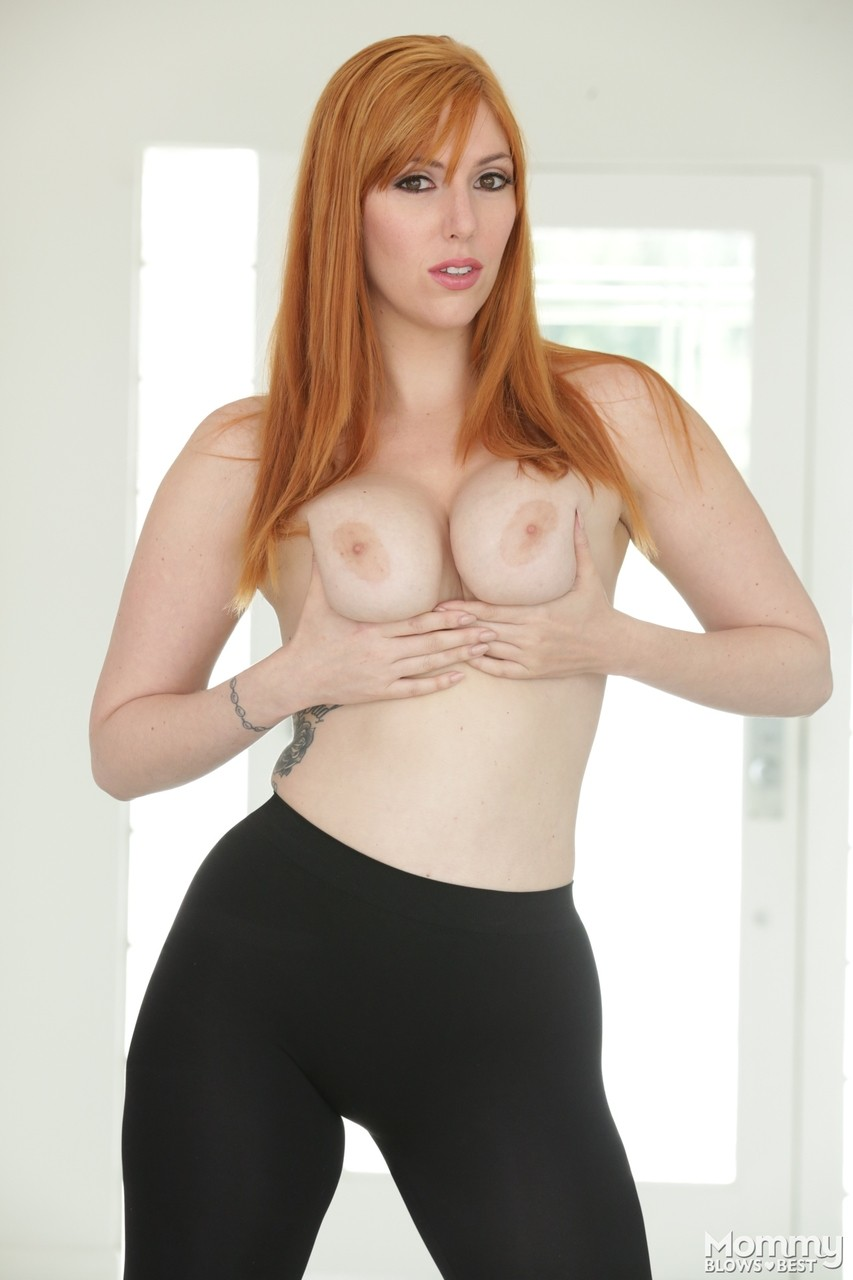 Redhead MILF Lauren Phillips strips flaunts her perfect body and flexibility