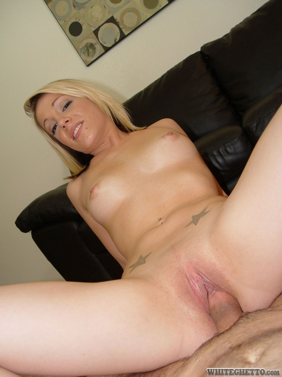 Blonde Riding Pov Creampie