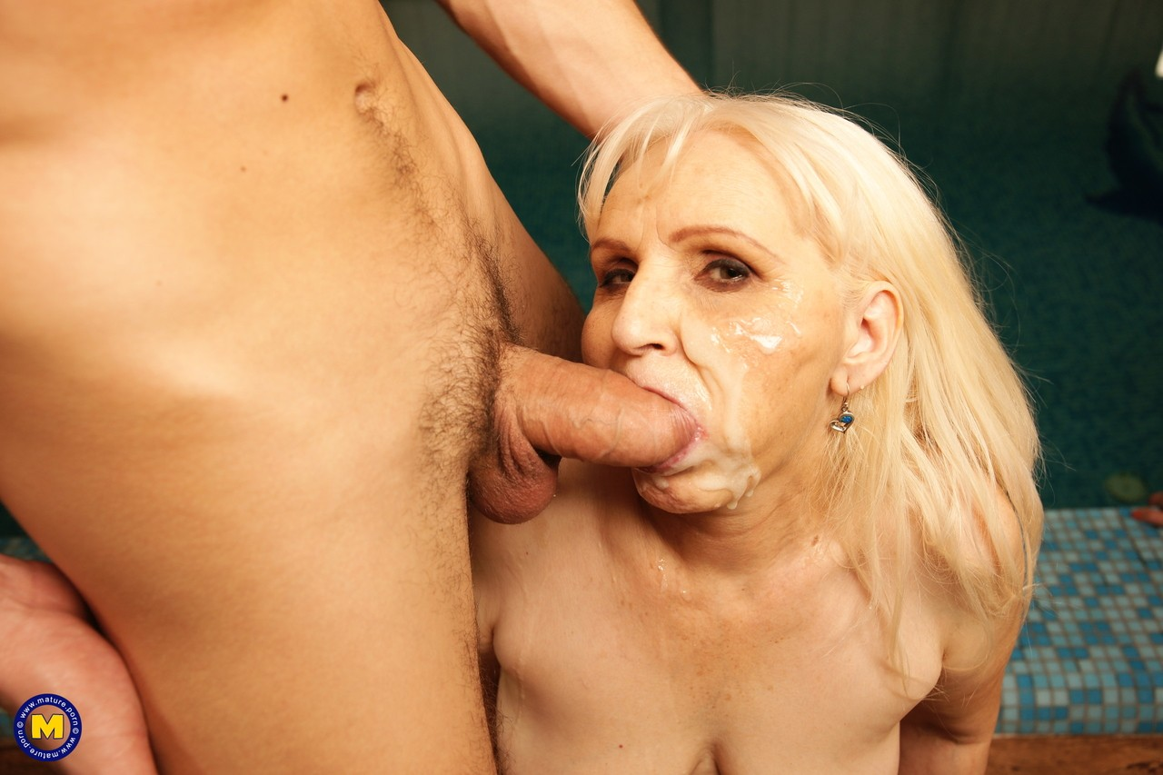 Eight White cuckold mature women fuck on eight cocks and get facials in orgy