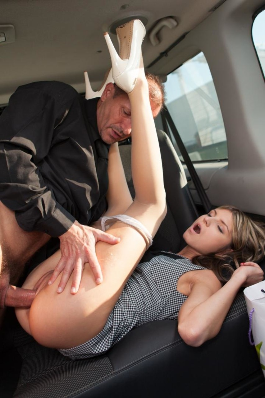 Tight girl fucked in bmw