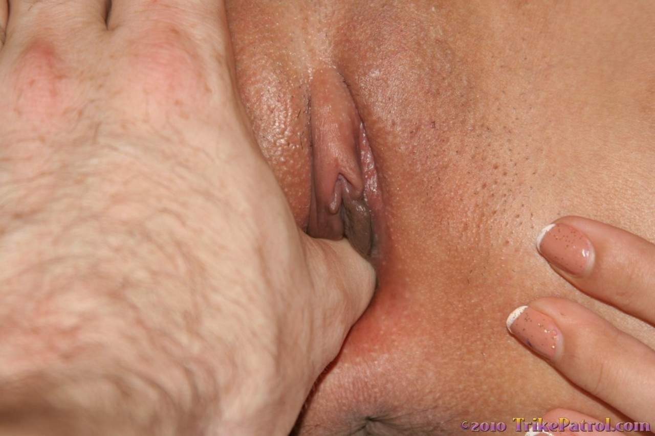 Petite Asian stunner Miah shows thumb in her pussy  hot creampie close up