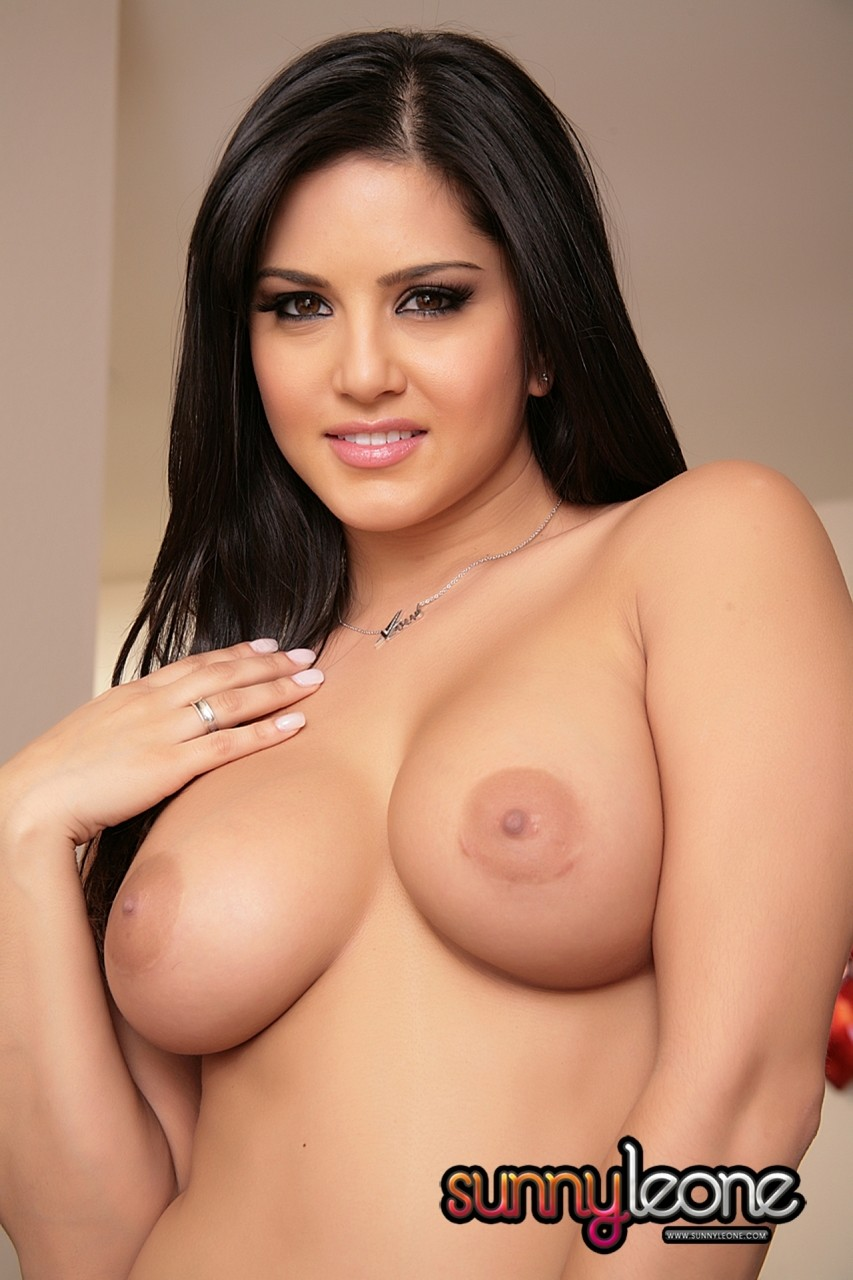 Indian pornstar Sunny Leone teases in her red bikini  shows her big boobs