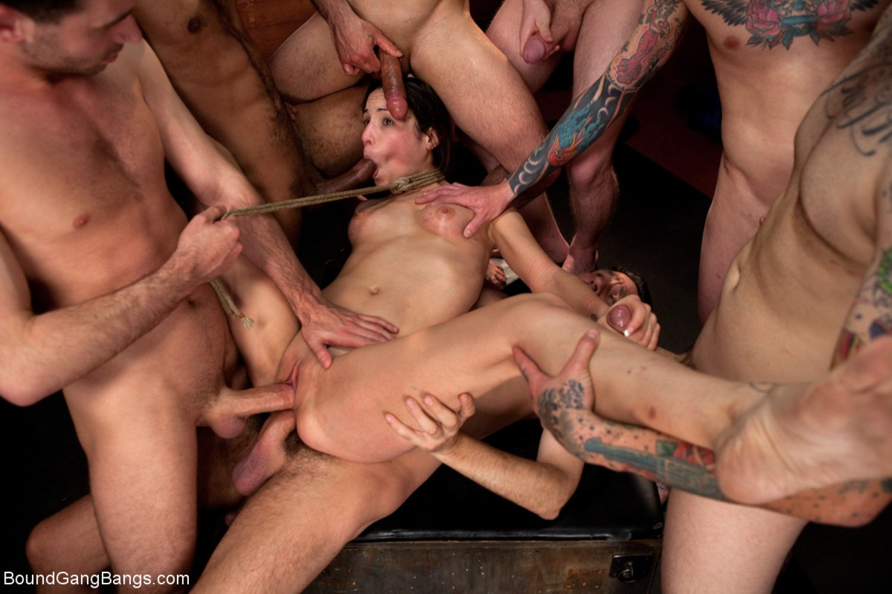 Kinky Slut Rough Gangbang