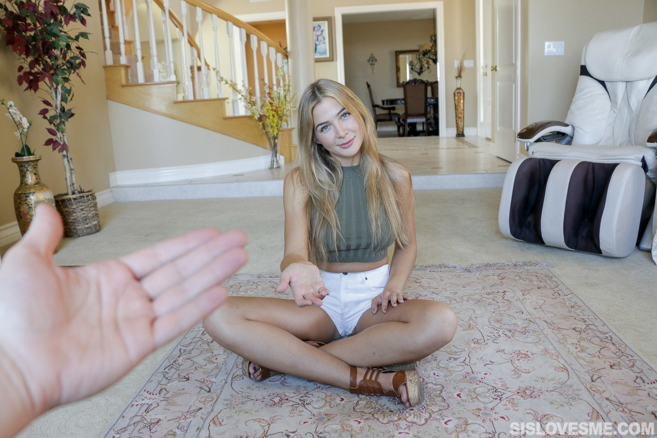 Blonde slut gets stepbro to take her naked pics to sell  ends up fucking him