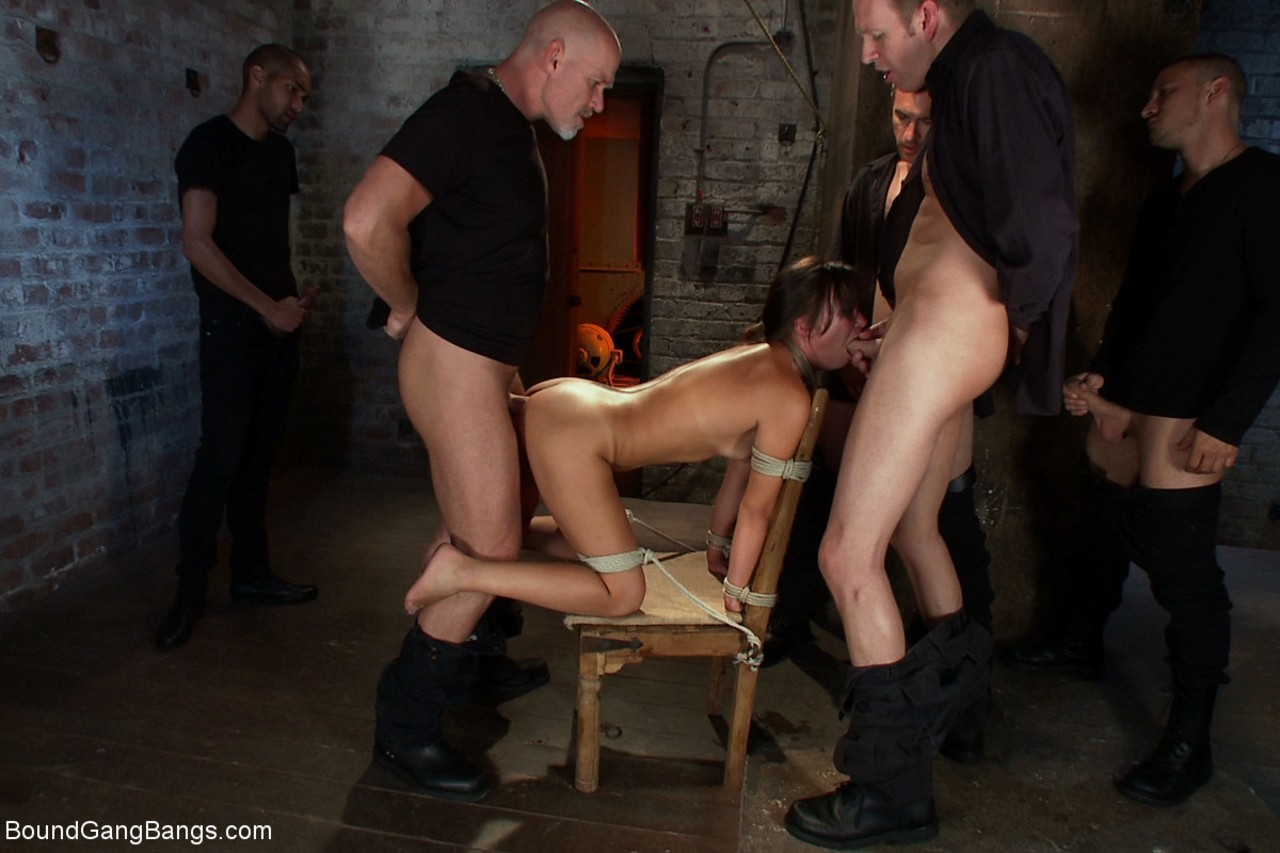Tied Up Anal Creampie Gangbang