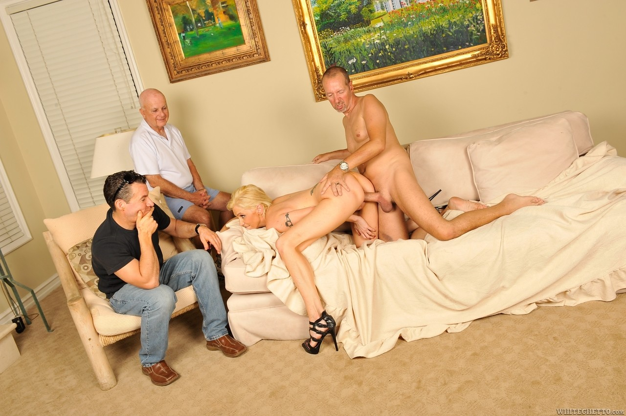 Casey Grant gets fucked by Chris Charming in front of husband and his stepson