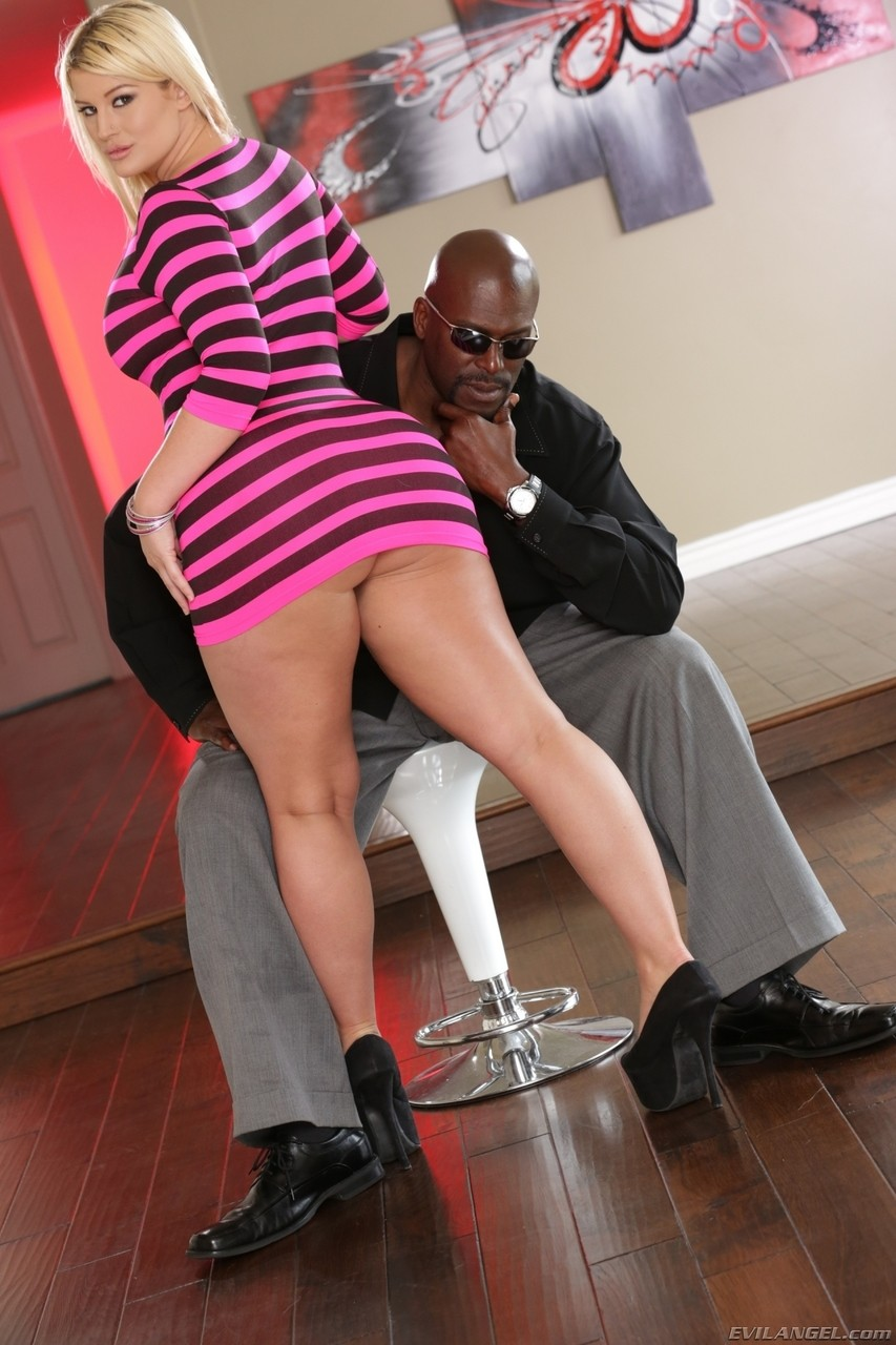 Big booty Julie Cash gets a titjob and a rough fuck by a massive black cock