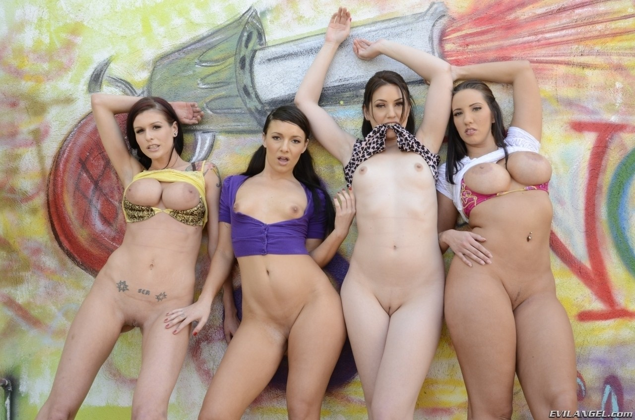 Four Girls Suck One Dick four super hot babes wants to suck one big dick and drain