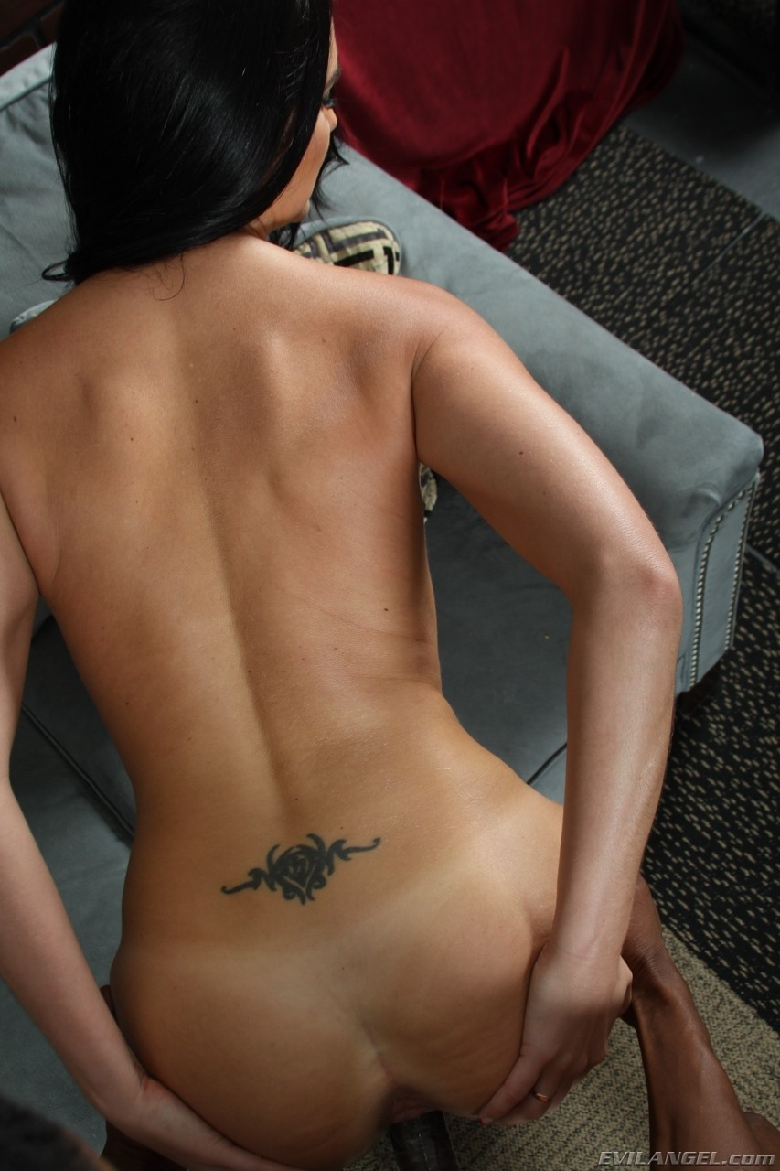 Raven-haired hottie Bianca Breeze gets bonked in a rough interracial action