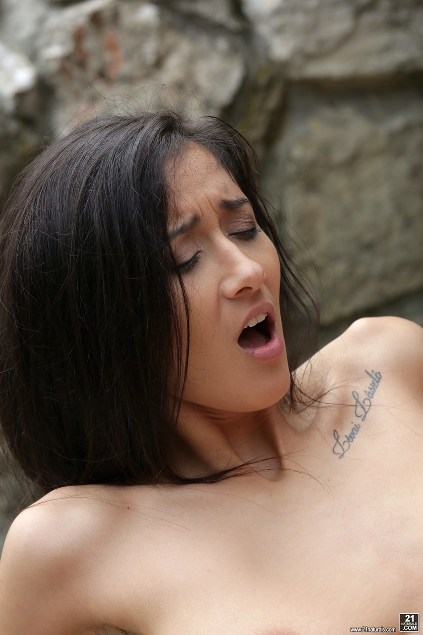 Adorable girlfriend with big natural tits Darcia Lee enjoys big cock outdoors