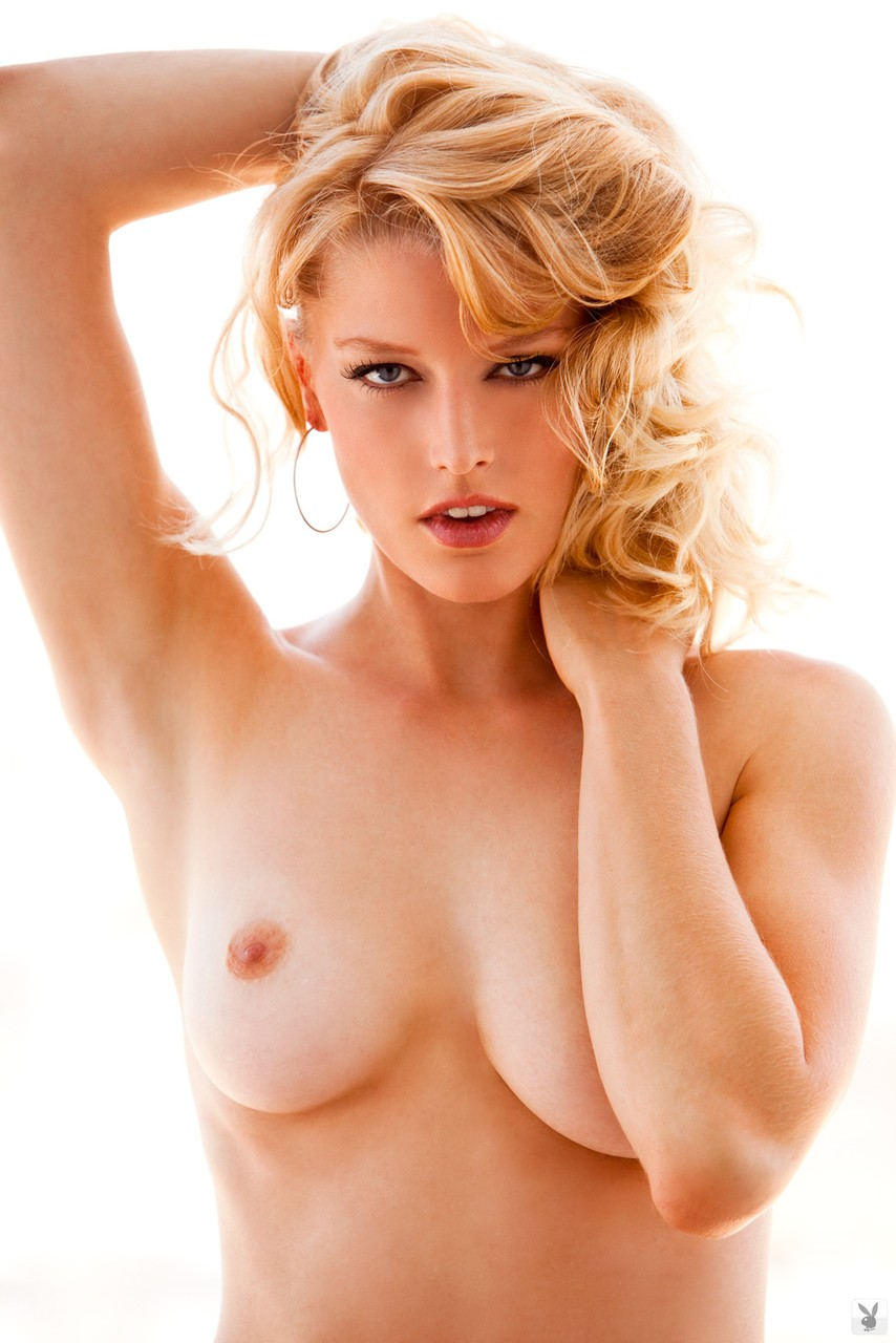 Compilation of superb babes with big melons posing nude for playboy