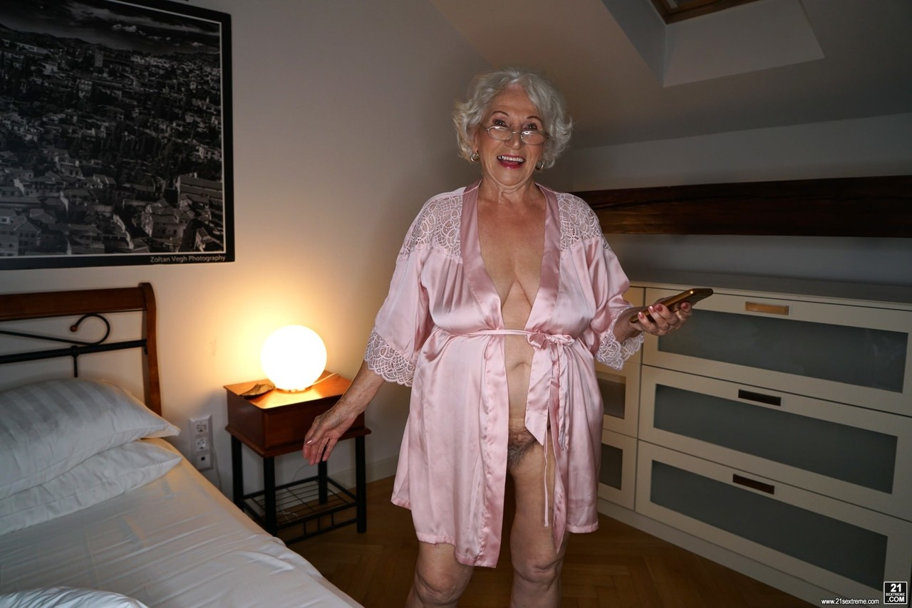 Kinky young dude fucks big boobed granny Norma in the middle of the night
