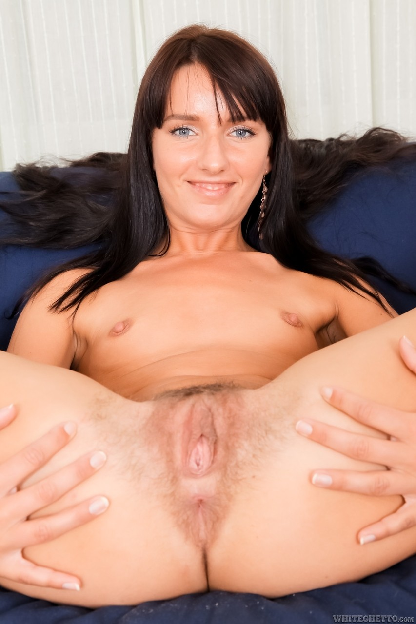 Slender MILF Mya Diamond rides her huge hairy pussy on large cock