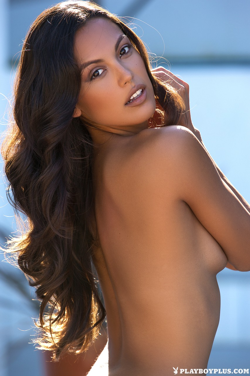 Sultry Playboy beauties shows smooth skin & tease with covered natural tits