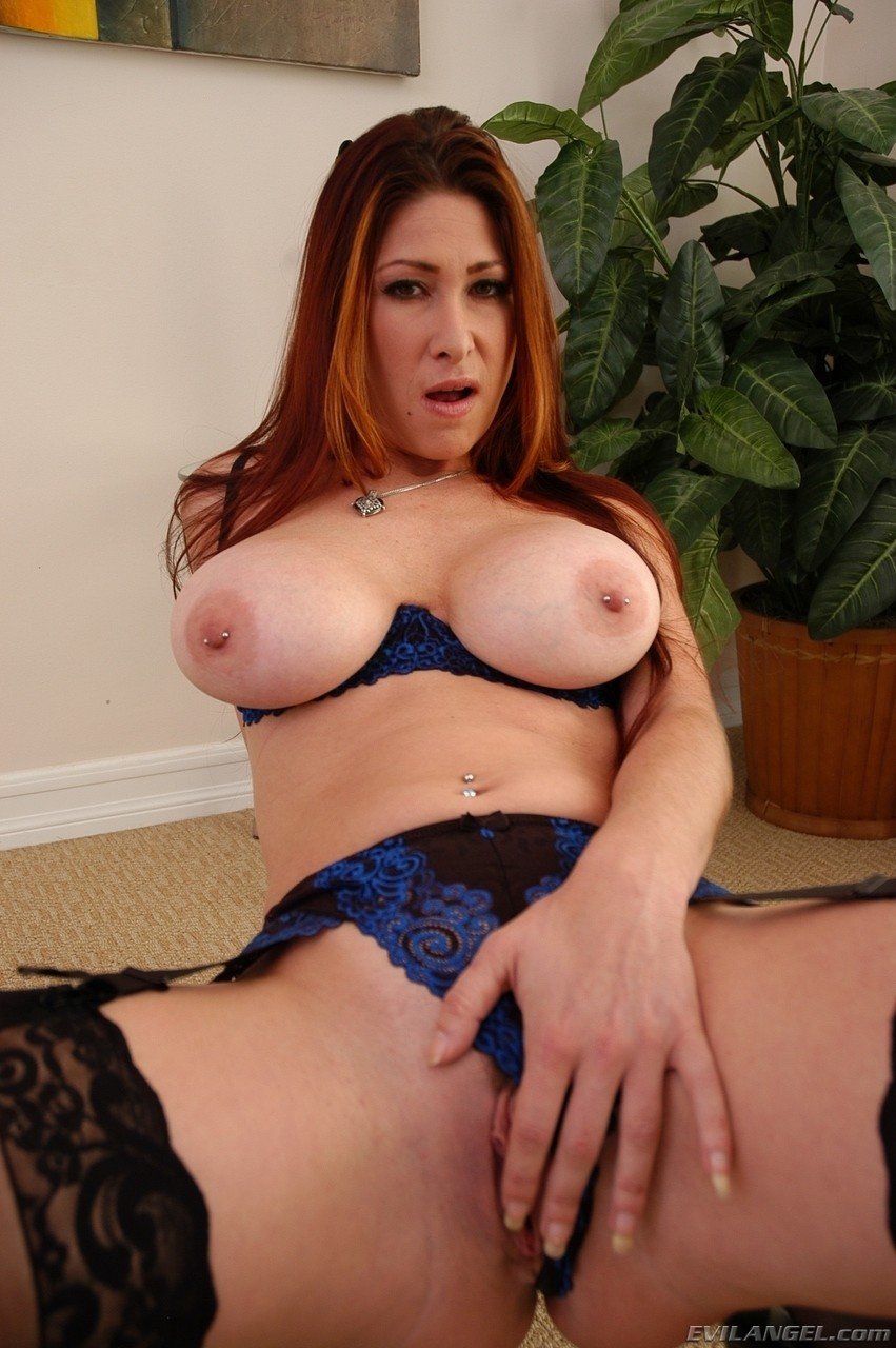 Plump redhead MILF Alison Tyler produces pierced big tits  hot bubble butt