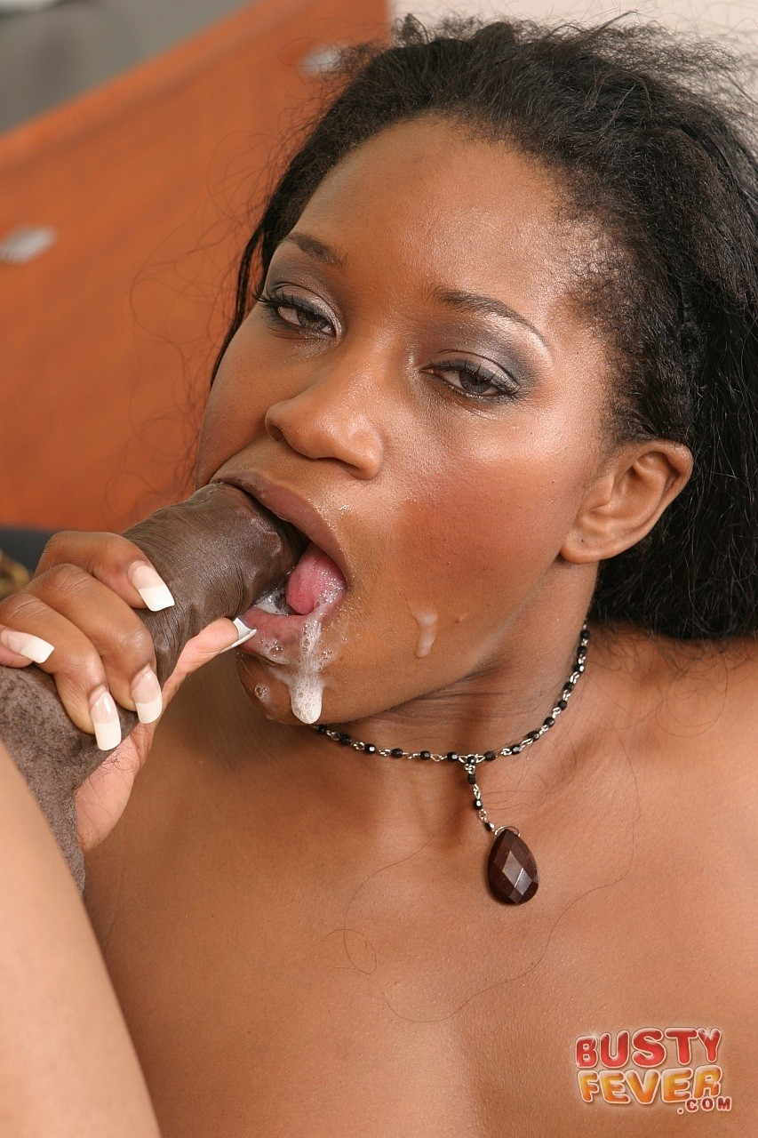 Curly haired ebony MILF Lori Alexia tastes and rides huge black meat pole