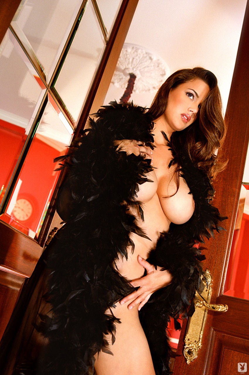 Comely MILF Tiffany Taylor puts her big fake tits on display in posh settings