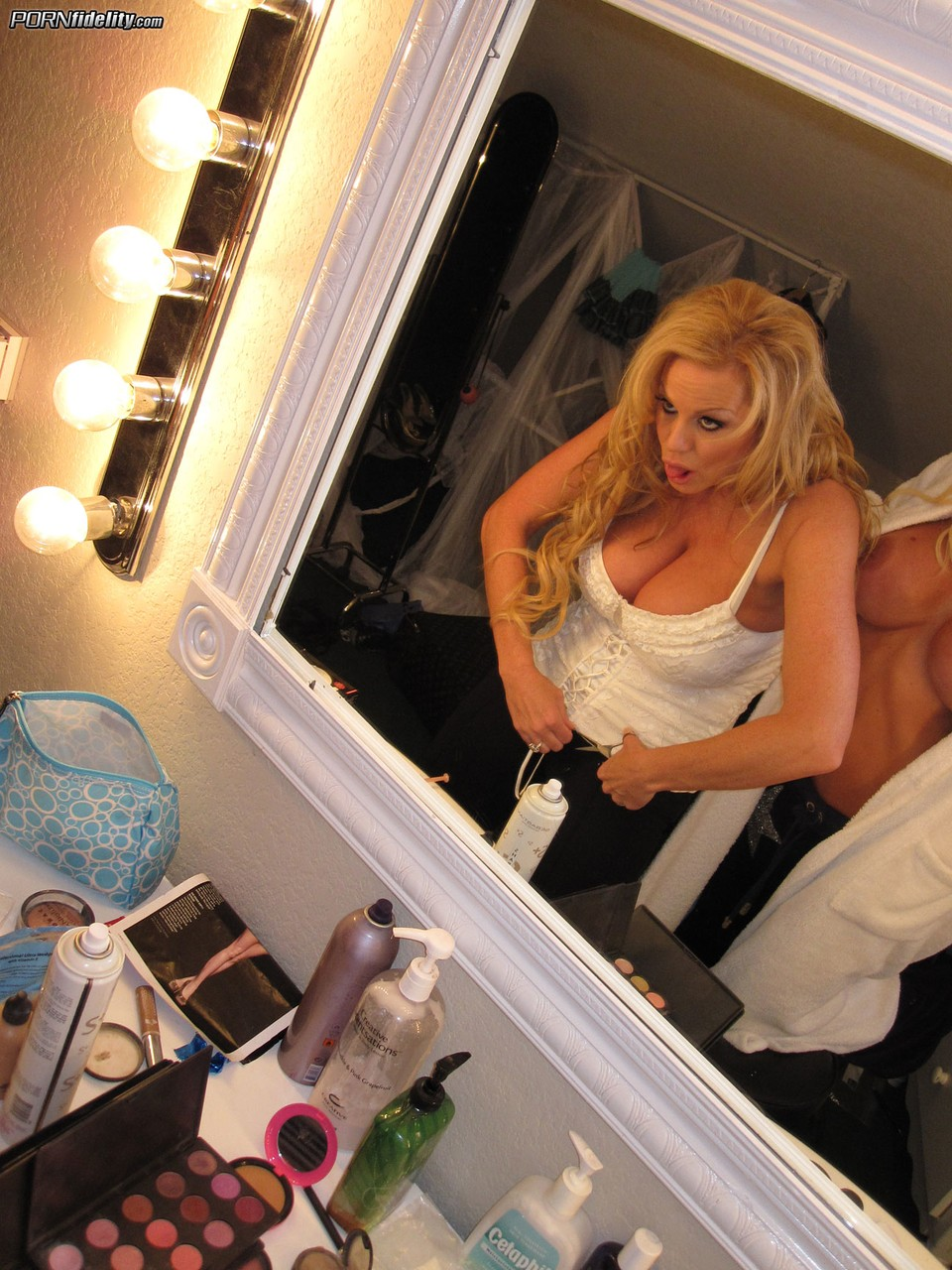 Sexy Puma Swede and Kelly Madison show their huge tits and finger their twats