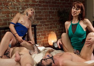 Cruel woman deliver CBT treatment when not pegging male subs