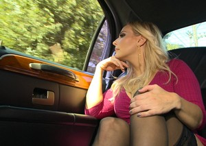 Blonde chick Angel Allwood sports a creampie after fucking a stranger