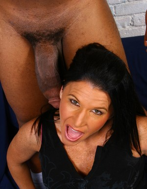 Brunette cougar Kendra Secrets bangs a BBC while her son watches her