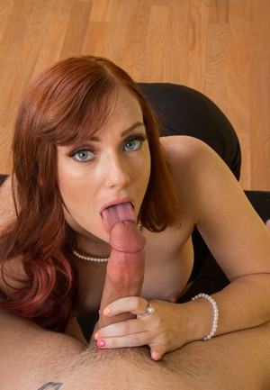 Redhead teacher Dani Jensen seduces a college aged boy in her classroom